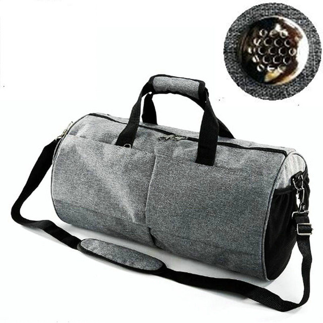 50L Waterproof Sports Gym Bag for Women Men Fitness Yoga Travel Luggage  Bags Shoes Storage Shoulder 9ee7bfb5840f2