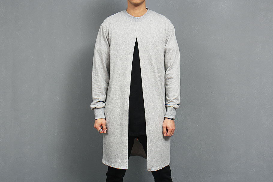 Street Edge Design Open Front Vent Long Sweatshirt Mens Hip Hop Extra Long  Sweatshirt for Men Free Shipping-in Hoodies   Sweatshirts from Men s  Clothing on ... 5f84be0618d