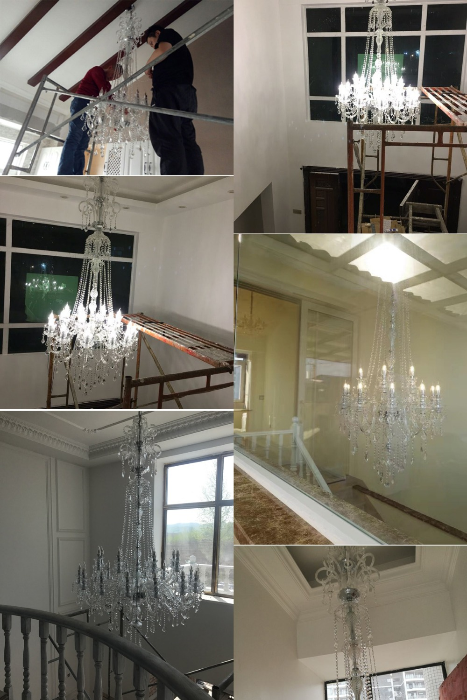 Елегантен кристален полилей Модерен - Вътрешно осветление - Снимка 6