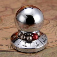 Metal Fate Prediction Ball Novelty Gag Toys Trick Practical Joke Gift For Adults Children Fun Games Model Antistress Toys