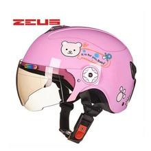 2017 Summer New ZEUS half face child helmet children motorcycle helmets made of ABS Cartoon four seasons safety helmets size S M