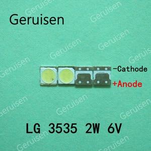 Image 4 - 500PCS FOR LCD TV repair LG led TV backlight strip lights with light emitting diode 3535 SMD LED beads 6V LG 2W
