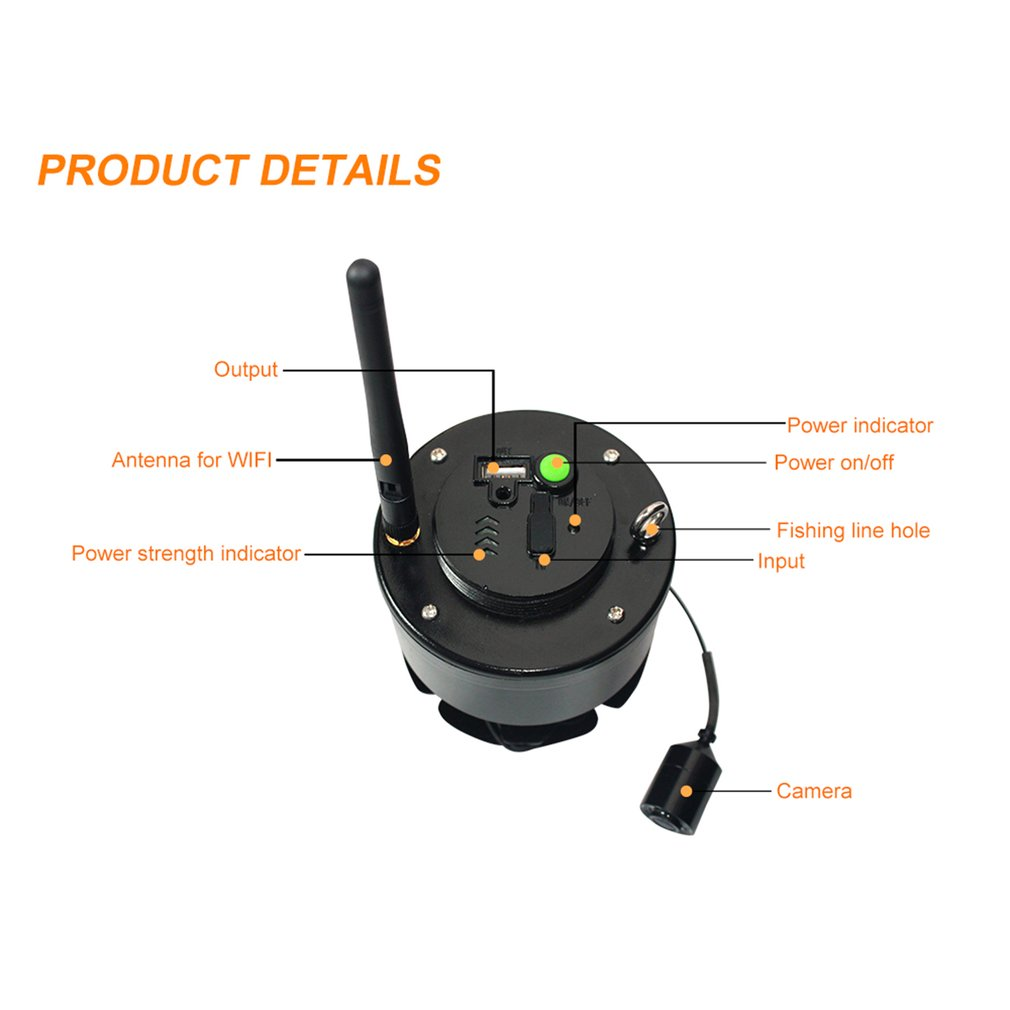 Lucky Portable Wifi Fishing Inspection Camera Underwater Camera Fish Finder Fit for Android for iOS Mobile Phones FF3309 эхолот lucky ff918 180 portable
