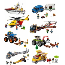 City Great Vehicles All series of bricks compatible with Legoe car aircraft boat childrens gift model toys