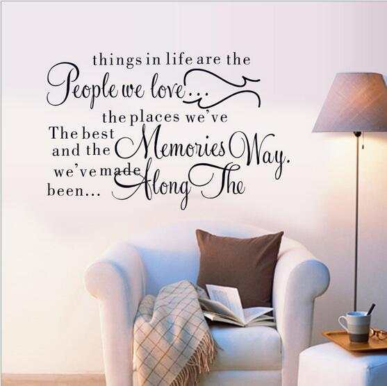 ea60d41a4fd7 placeholder 2016 Life Quote Wall Decal Things in life are the people we  love Quotes Wall Stickers