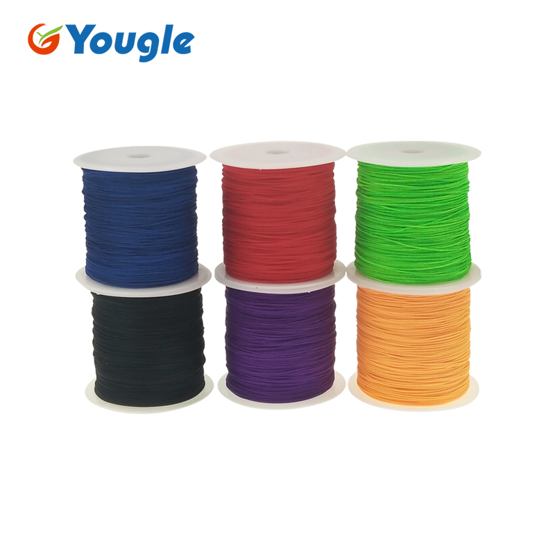 YOUGLE 0.75mm nylon Paracord 1 Strand parachute Fishing line Tent wind multifunctional fixed clothesline rope 100M 328FT 95LB outdoor multifunctional tent fixed clamp