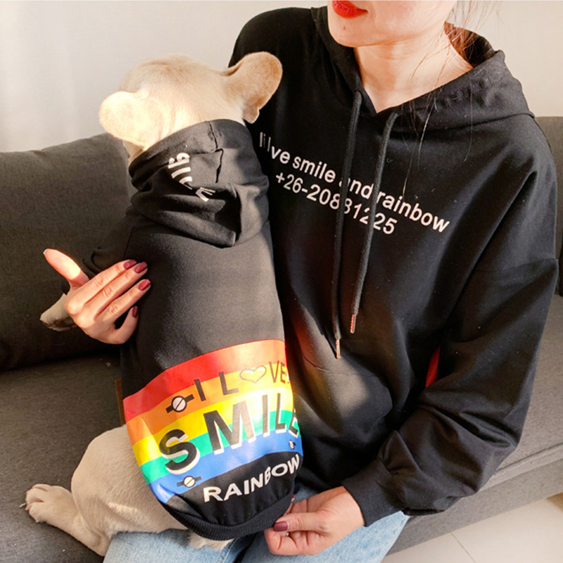 Spring Autumn Rainbow Pattern Hoodie for Small Dogs  My Pet World Store