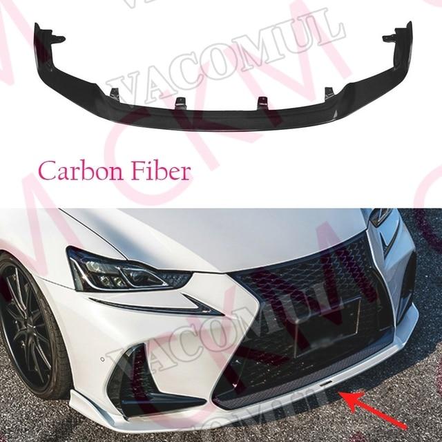 Carbon Fiber Front Bumper Lip Spoiler Protector Body Kits For Lexus Is300 Is350 Is F Sport