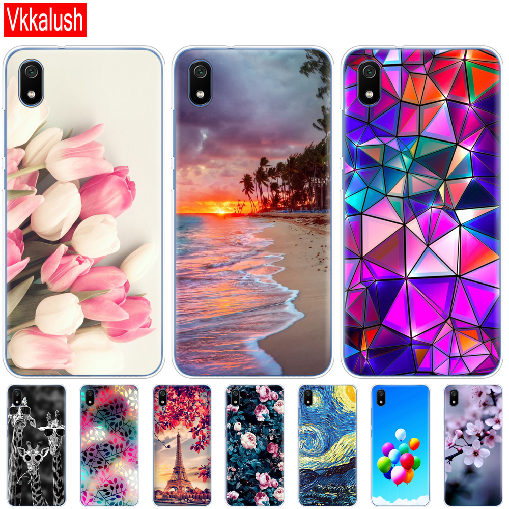 Silicon Shell Bag Case For Xiaomi Redmi 7a Cases Full Protection Soft Tpu Back Cover On Redmi 7A Bumper Phone Coque image