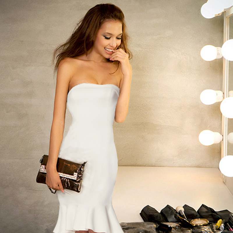 New Arrival   Cocktail     Dresses   Ever Pretty EP05967 Women's V-neck Elegant Party   Dresses   with Ruffles Robe   Cocktail