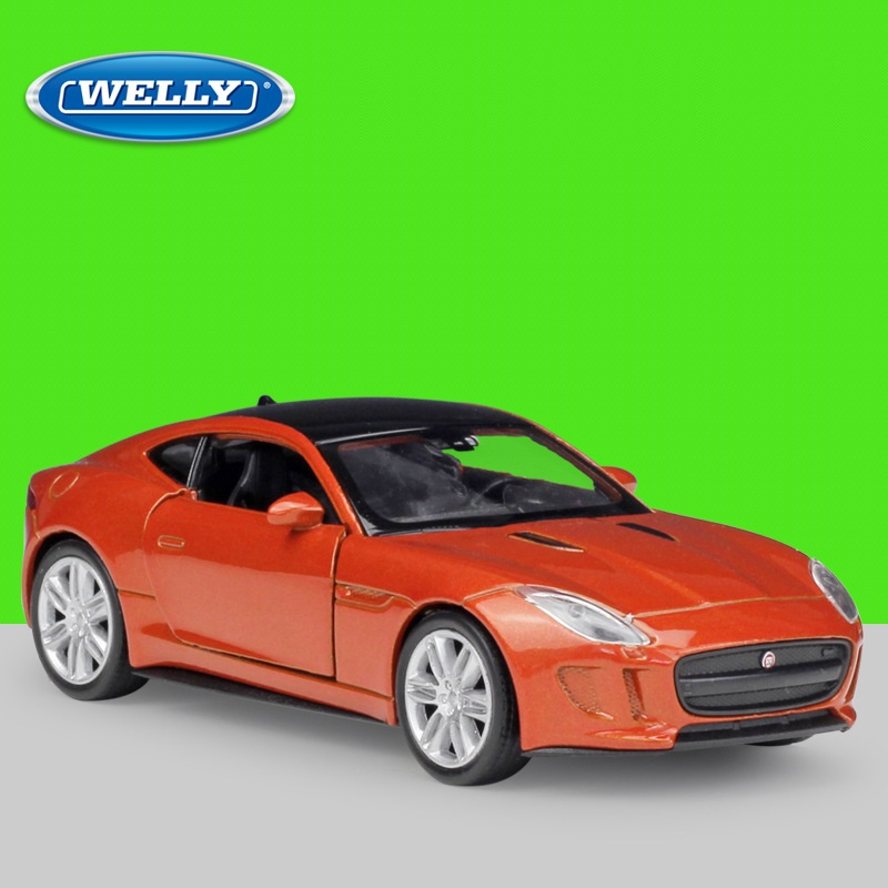 1:36 Welly JAGUAR F-Type Coupe Alloy Toys Diecast Model Car