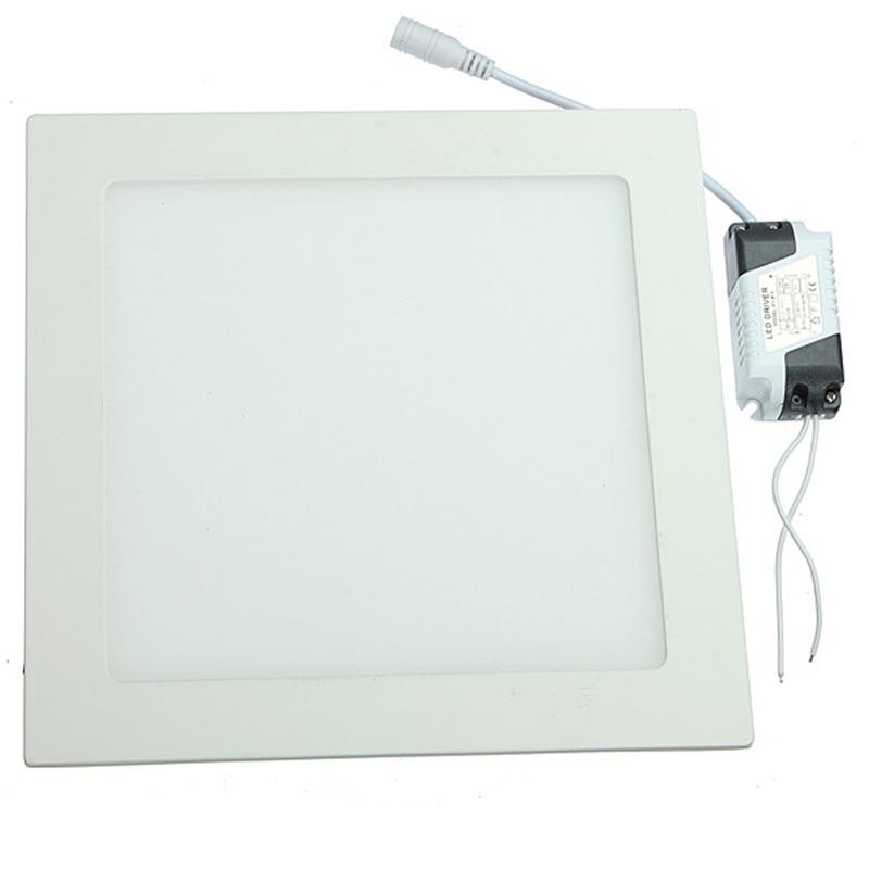 Квадратная Светодиодная панель лампа 3 Вт 6 Вт 9 Вт 12 Вт 15 Вт 25 Вт Встраиваемая потолочная панель ультратонкая 110 В 220 В Внутреннее освещение для домашнего декора