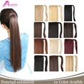24 Inch 12 Colors Synthetic Hair Ponytails Extension Straight Long Clip-in Ribbon False Hair Ponytail Hairpieces