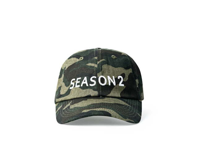 High street camo Kanye Kanye SEASON 2 camouflage cap baseball cap adjustable men and women