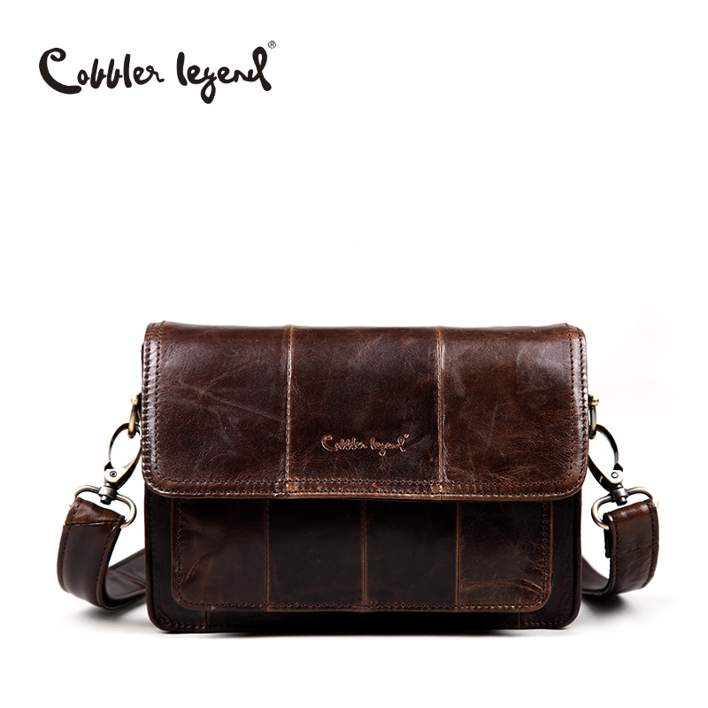 Cobbler Legend Brand  Real Leather Man Clutch Bag With Men's Messenger Belt Busi