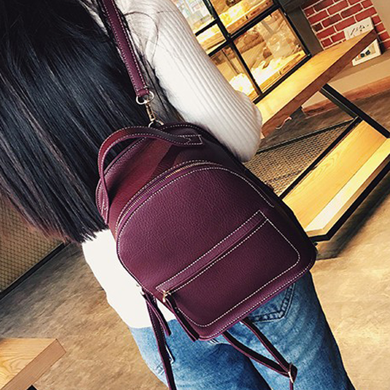 2017 Women pu Leather Backpack children backpacks mini bags women school bags for teenage girls New