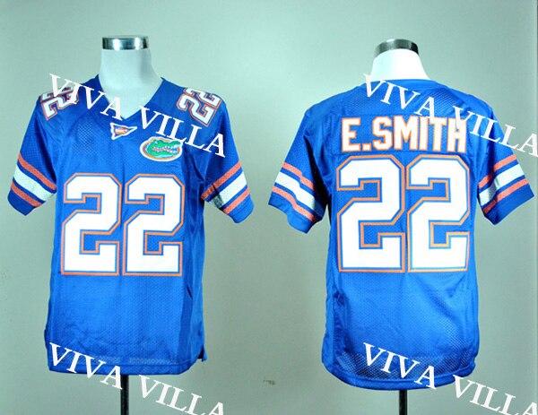 купить Emmitt Smith 22 Florida Gators 15 Tim Tebow College American Football Jersey All Stitched Blue White S-3XL Free Shipping по цене 1804.42 рублей