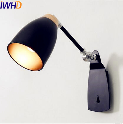 Фотография IWHD Nordic Simple LED Wall Light Modern Home Lighting Beside Long Arm Wall Lamp LED Sconce Wandlamp Lamparas De Pared