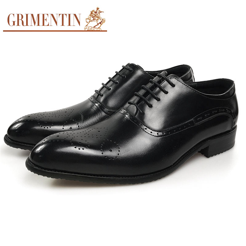 Büro Black Aus Lace Grimentin Business Männliche Schuhe Up Kleid Männer Oxford Leder Schwarz Echtem OOqZPw
