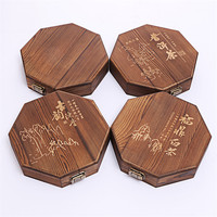 XMT HOME wood tea tray for 357g puer tea box for Yunnan Puer 1pc