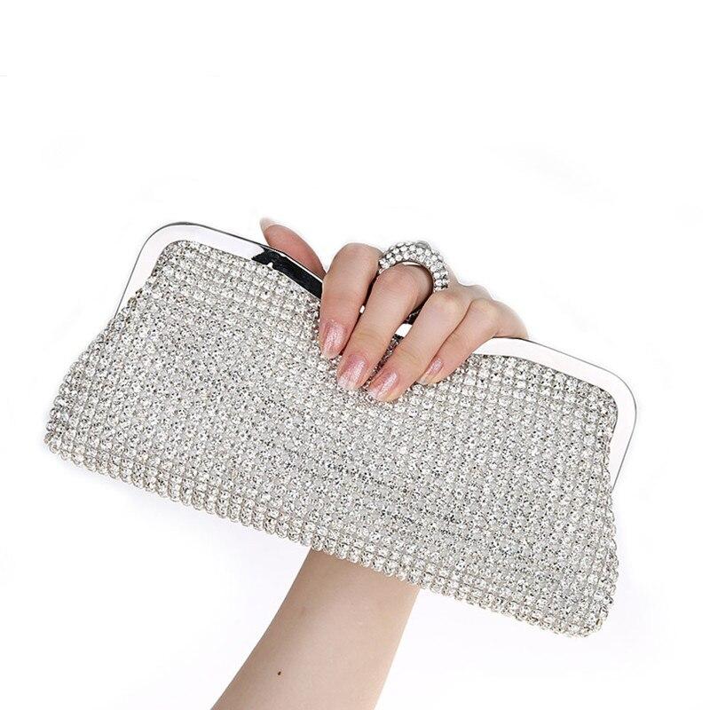 NUEVO Diseño  diamantes de Imitación de Embrague Noche de Las Mujeres Bolsos de