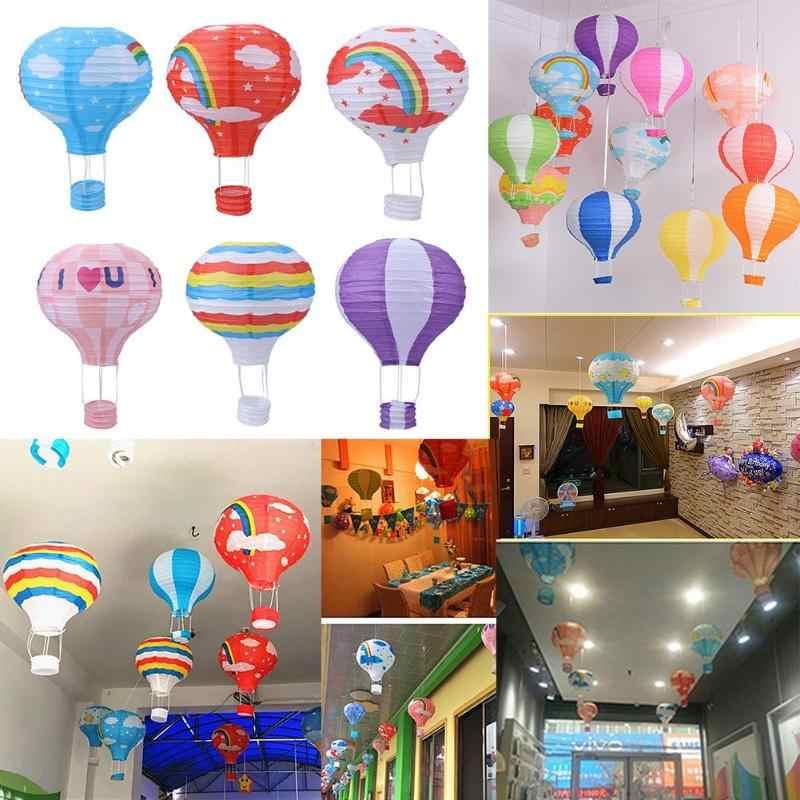 Wiszące lampiony papierowe gorący balon dmuchany 12 ''ślubna dekoracja urodzinowa Mall Bar sufitowa kula dekoracyjna lampiony papierowe