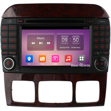 7″ Quad Core 2GB RAM 4G LTE SIM WIFI Android 6 Car DVD Multimedia Player Radio For Mercedes-Benz CL-W215 S Class W220 S430 S500