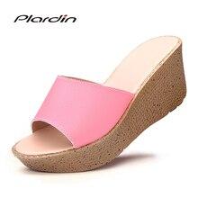 Plardin New Genuine Leather Bohemia Summer Casual Leisure Women's Platform Sandals