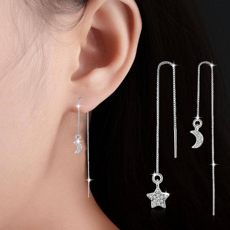 Ohrringe Besorgt Neue Europa Lange Asymmetrische Sterne Mond Quaste Ohrringe Ohrringe Kristall Von Swarovski Mode Hochzeit Schmuck Ohrringe Gut FüR Energie Und Die Milz