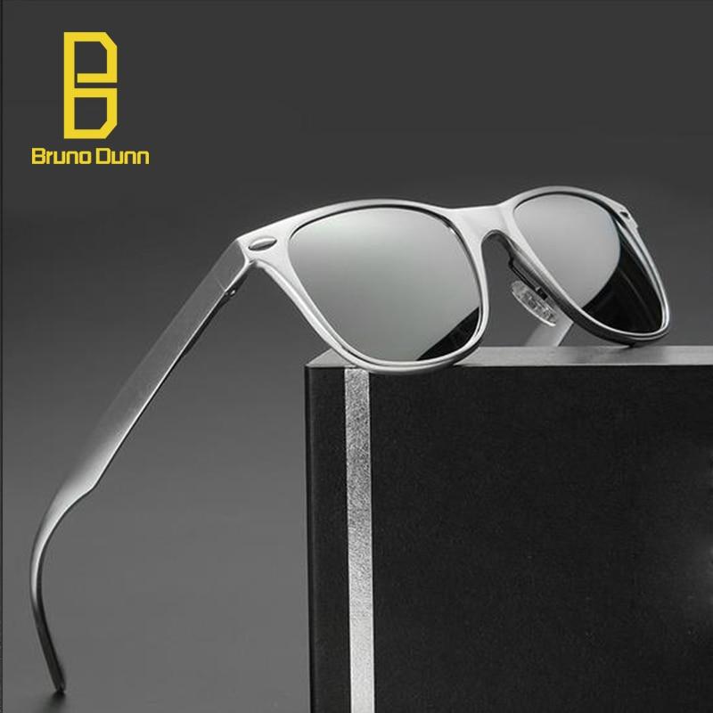 bd1db9a2974 Bruno dunn Marca Desing Alumínio Sunglases Polarizada óculos de Sol Do  Vintage Glases masculino Para Homens
