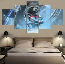 Modern Decor Canvas Painting HD Print Home Wall Avengers Endgame Movie 5 Piece Paintings Art Room Artwork