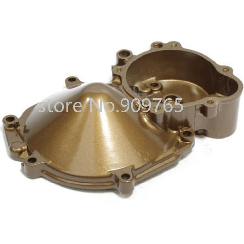 Gold Aluminum Stator Engine Cover Crankcase Case For Motorbike Kawasaki ZX-10R 2004-2005 aluminum water cool flange fits 26 29cc qj zenoah rcmk cy gas engine for rc boat