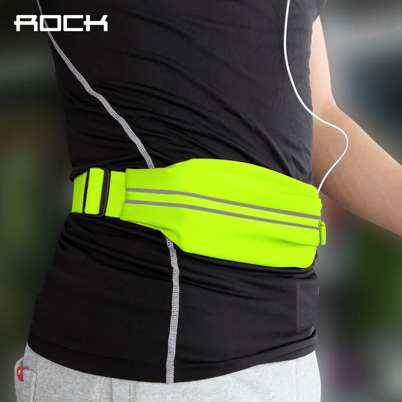 ROCK Waterproof Sports Waist Bag For Running Fitness Cycling Universal Professional Slim Armband For 4 6