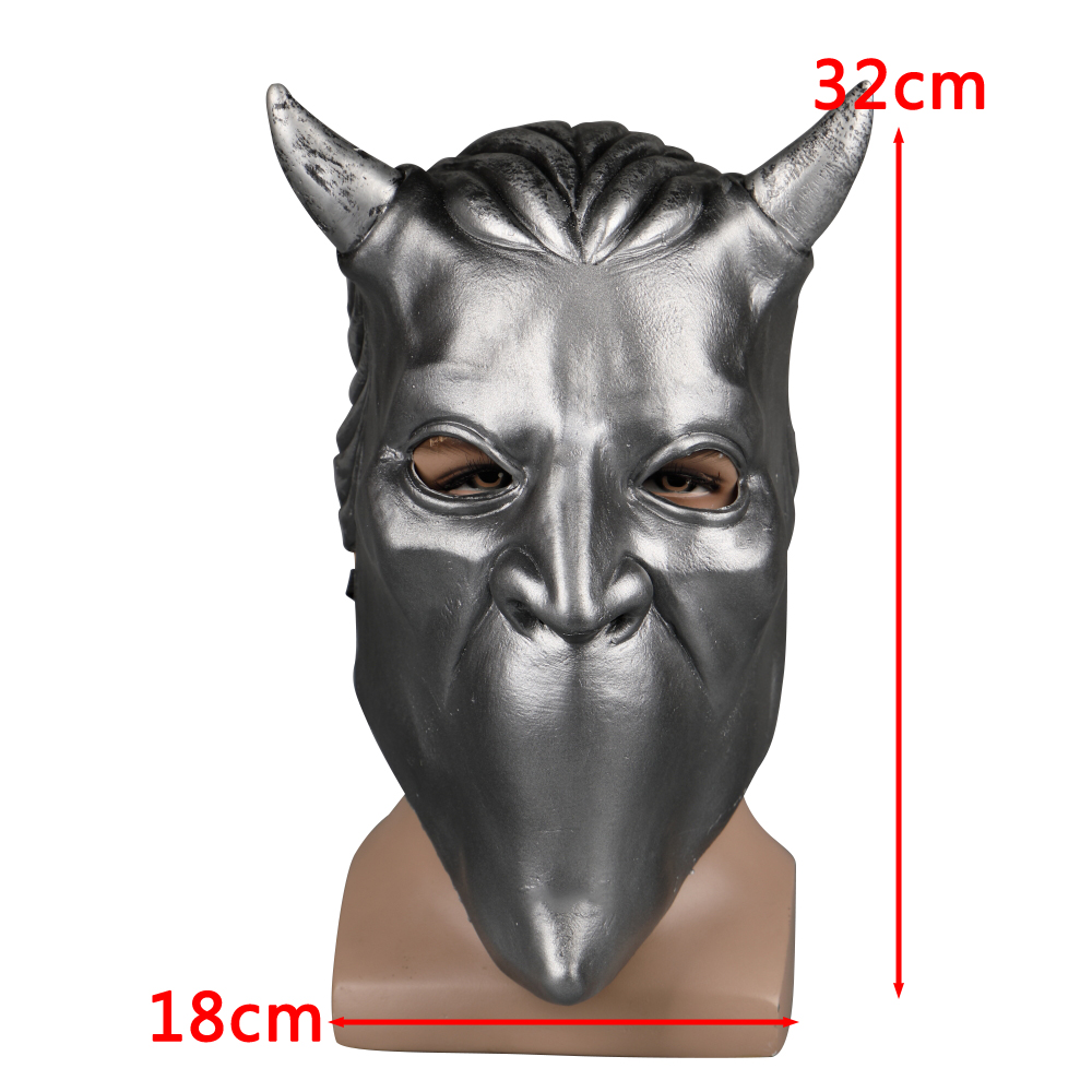 Ghost Nameless Ghoul Mask Cosplay Ghost B.C Rock Roll Band Latex Helmet Masks Halloween Party Props DropShipping (23)