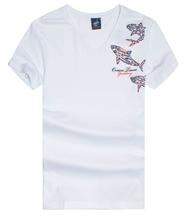 Men's t shirt  Brand clothing  Tace&shark  Men's  v-neck  printing  Pure cotton  The fabric  breathable  Short sleeve T-shirt