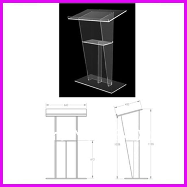 Free Shipping Acrylic Podium Church Pulpit