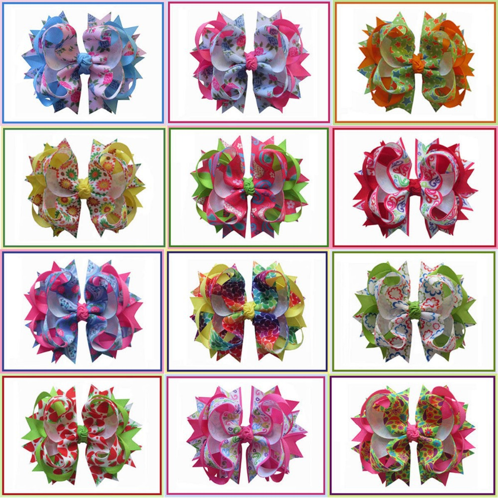 12pcs BLESSING Happy Girl Hair Accessories Flower 4.5