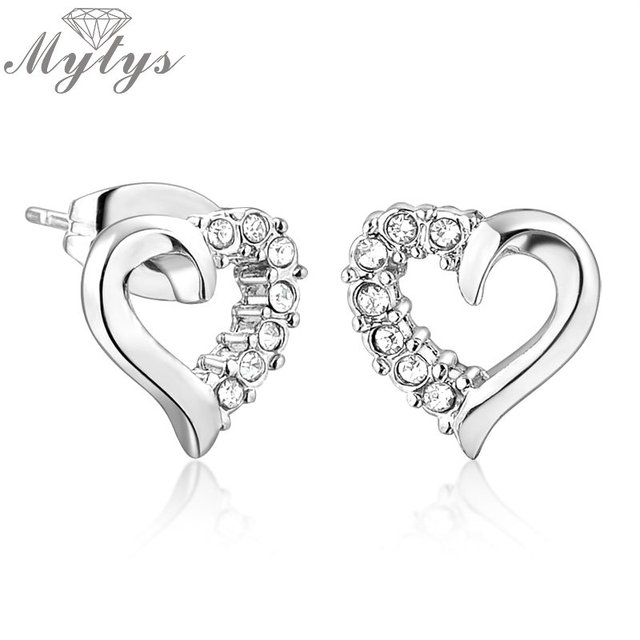 heart stud kids screw earrings girls silver small sterling piercing women cute back for smooth item