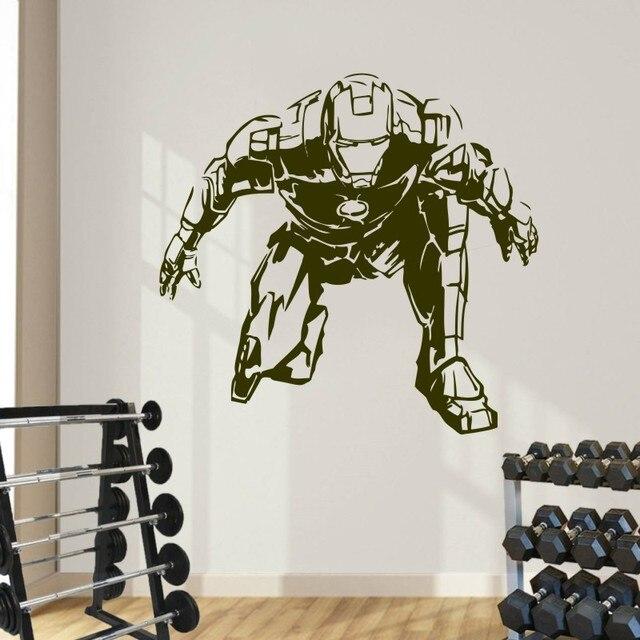 Wandtattoo Iron Man Marvel Comics Kunst Aufkleber Kinderzimmer Dekoration Wohnzimmer  Schlafzimmer Haus Zubehör Poster Dekor WW