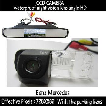 Mirror Monitor+ CCD HD Car rear view camera night vision for Benz C-Class W203 E-Class W211 CLS-Class 300 W219 R350 R500 ML350