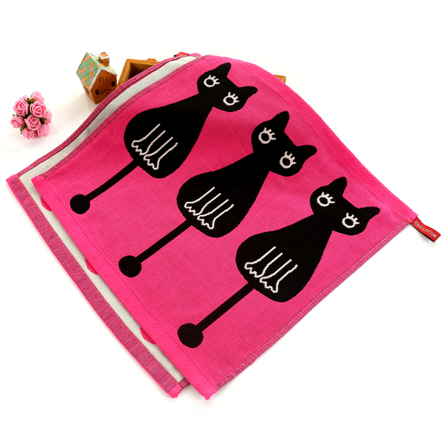 Cartoon Patterned Baby Towel with Hook