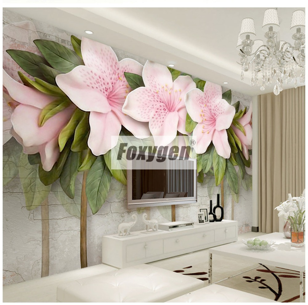 Customzied NON-WOVEN Wallpaper mural with kinds of nice 3D flowers animals Forest abstract landscapes cities and trees designs coloring of trees