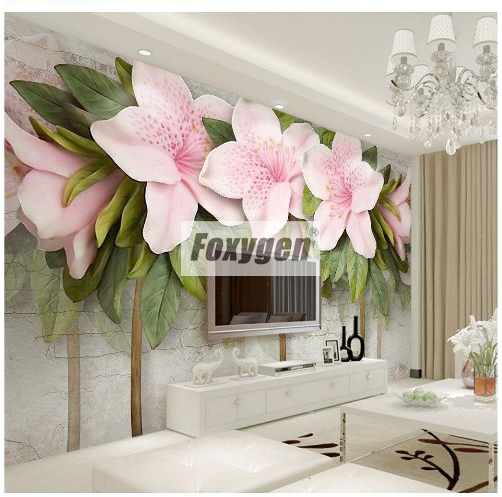 Papier peint personnalisé NON-WOVEN papier peint mural avec des sortes de belles fleurs 3D animaux forêt paysages abstraits villes et arbres dessins