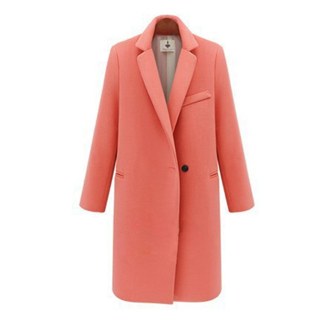 Women's Winter Jackets and Coats Single Button Elegant Warm Women Woolen Coat 2016 Thicken Long Plus Size Women Coat Jacket