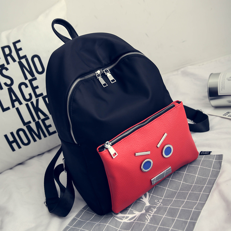 Backpack Female College Korean Nylon Small Monster Backpacks School Bag Large Capacity Waterproof Rucksack Travel Bags oxford bag korean version of the female students shoulder bag large capacity backpack canvas backpacks