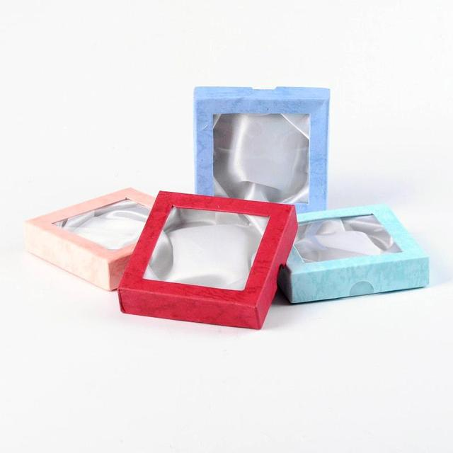 120pcs Jewelry Bracelet Gift Boxes Mixed Color Square Cardboard