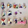 Mix 14 Formas, 140 unids/lote cose en Rhinestones Cristalinos del AB Crystal AB Flatback cose en Las Piedras De Coser Perlas de Bolsos Zapatos Y2817