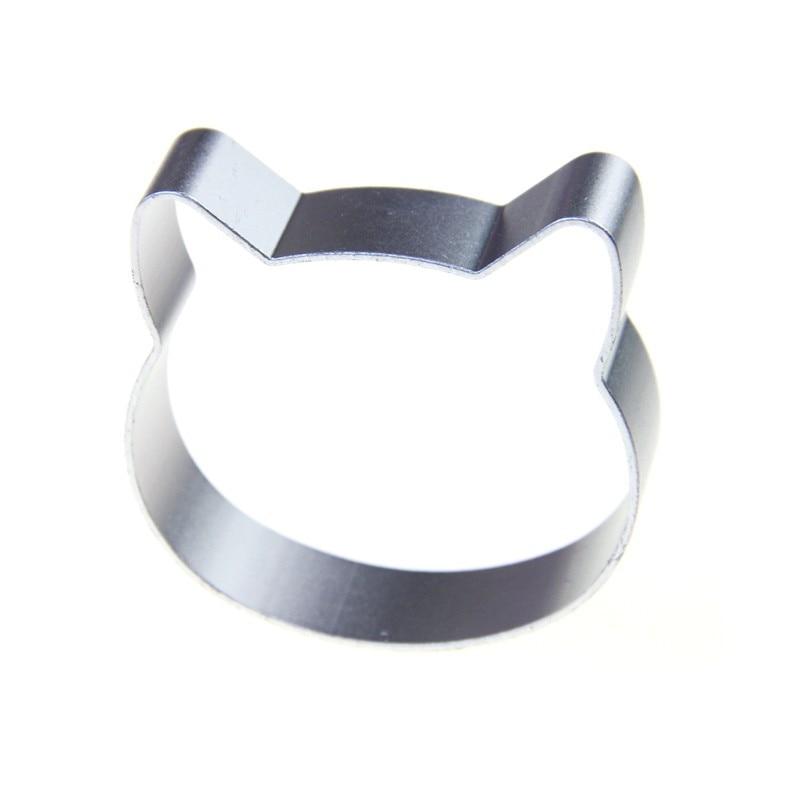 Mrosaa 1PC Cat-shaped Aluminum Alloy Cookie Mold Cake DIY Sugar Process 3D Pastry Cookies Drying Baking Tools