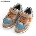 Trainer CCTWINS CRIANÇAS primavera outono crianças de couro genuíno marca de calçados casuais da criança do bebê menina moda sneaker menino