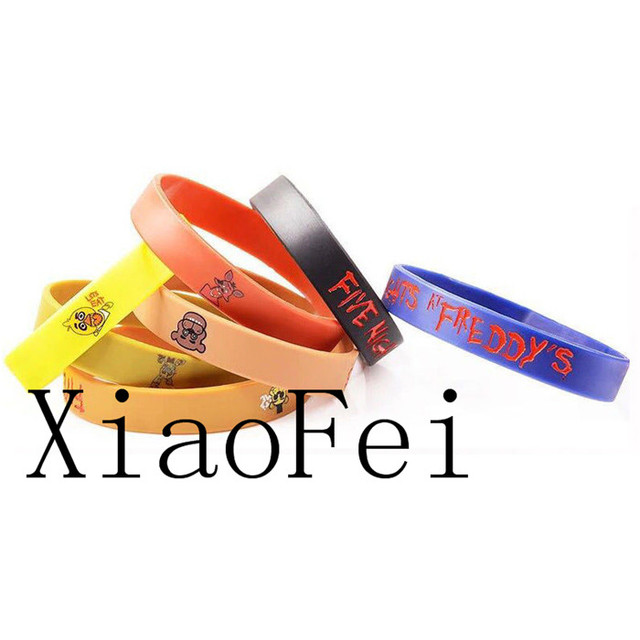 New 50Pcs Five Nights at Freddy's SILICONE BRACELETS FNAF Kids Birthday Party Gift Christmas CHild